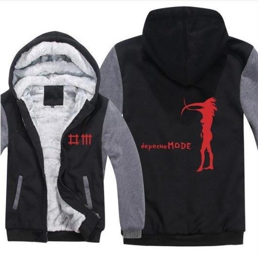 高品質デペッシュ·モード Depeche Mode フリースパーカー  スウェット 衣装 コスチューム 小道具 海外限定 14