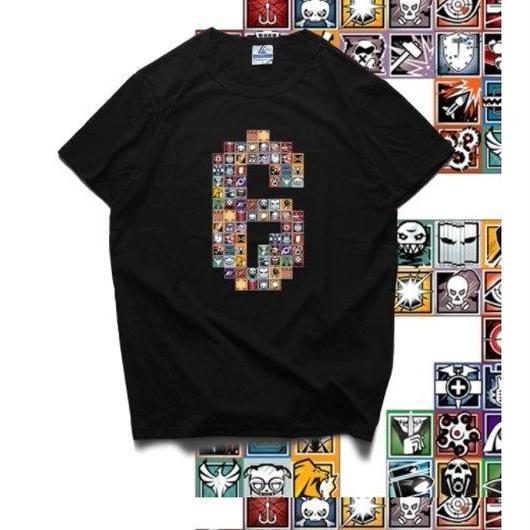 レインボーシックス シージ   カラフルロゴ   Tシャツ Tom Clancy's Rainbow Six Siege ユニセックス R6S シージグッズ