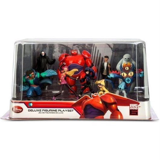ベイマックス Big Hero 6 ディズニー Disney フィギュア おもちゃ Exclusive Deluxe 9-Piece PVC Figure Play Set