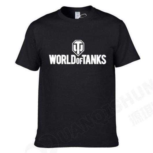 World of Tanks ワールドオブタンクス WoT シンプル ロゴデザイン Tシャツ 半袖  ユニセックス ゲームグッズ  WoTグッズ   ブラック3