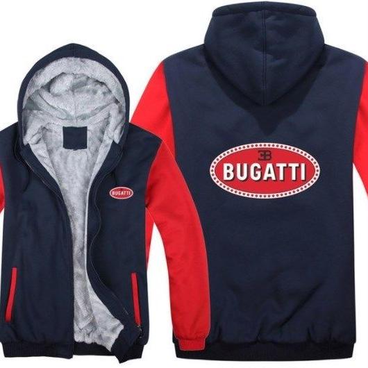 高品質 ブガッティ BUGATTI あったかい フリースパーカー ジップアップ  衣装 コスチューム 小道具 海外限定 車グッズ 車グッズ関連