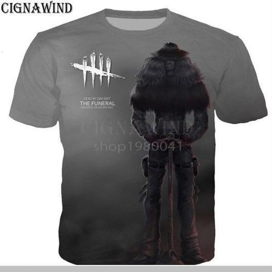 デッドバイデイライト 男性  女性 3D デザイン プリントTシャツ 男の子 半袖  6
