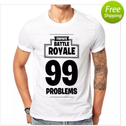 Fortnite フォートナイトバトルロワイヤル 99プリント Tシャツ トップス  メンズ