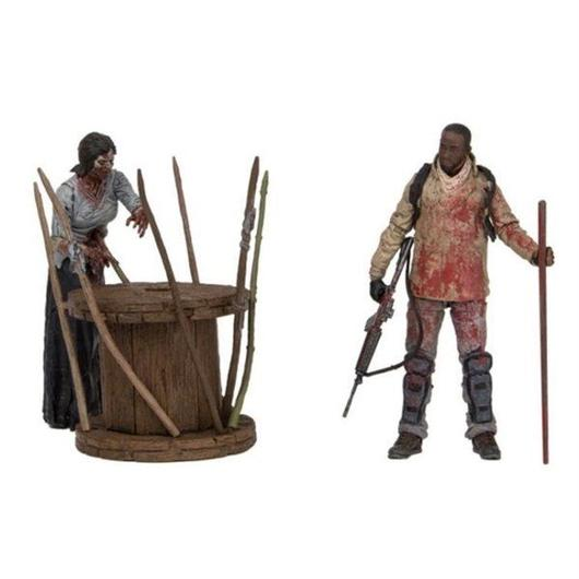 ウォーキング デッド マクファーレン MCFARLANE The Walking Dead TV Series Deluxe Box Set - Morgan With Walker & Trap