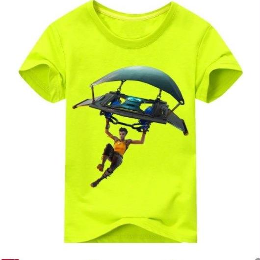 フォートナイト fortnite 子供服  グラインダー ステルスプリントTシャツ ユニセックス カジュアル半袖Tシャツ トップス 9色展開 バトルロワイヤル  ライトグリーン