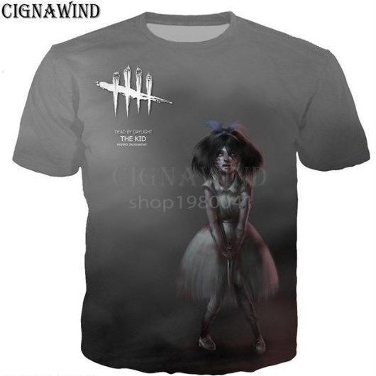 デッドバイデイライト 男性  女性 3D デザイン プリントTシャツ 男の子 半袖  8