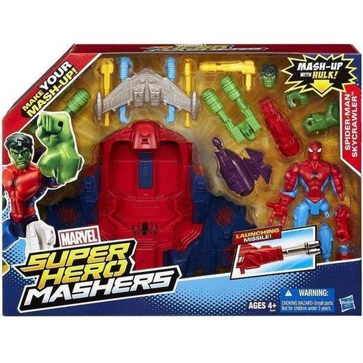スパイダーマン Spider-Man ハズブロ Hasbro Toys フィギュア おもちゃ Marvel Super Hero Mashers Skycrawler Action Figure