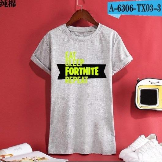 Fortnite フォートナイト ロゴ デザイン 綿100%  Tシャツ トップス  ユニセックス メンズ レディース  3