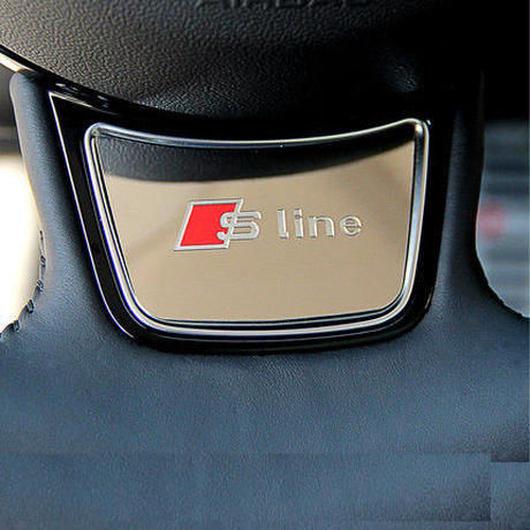 アウディ ステッカー 304ステンレス スチール ステアリング カーインテリア Audi A4 A3 A1 A5 A7 A6 Q3 h00342