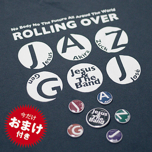 Tシャツ&缶バッヂセット[Rolling Over]CD付き