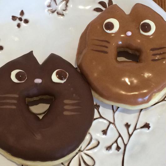 大人気!ドラナツ(ドラネコドーナツ)チョコ味・キャラメル味各3個セット