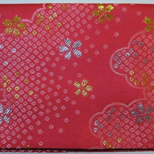059KS-GWK-A 雲取り鹿の子に小桜 濃ピンク (御朱印帳約16cmx11.5cm対応)