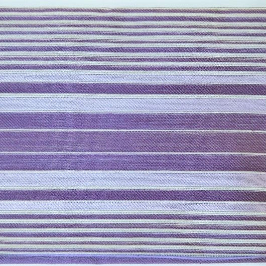 064BT-GMS-A 正絹 西陣織 紫ボーダー (御朱印帳約16cmx11.5cm対応)