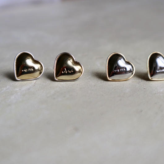 metal heart  pierce / earring