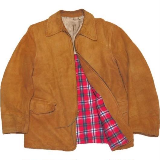 1960's vintageレザージャケット【良サイズ雰囲気抜群】 実寸(M)