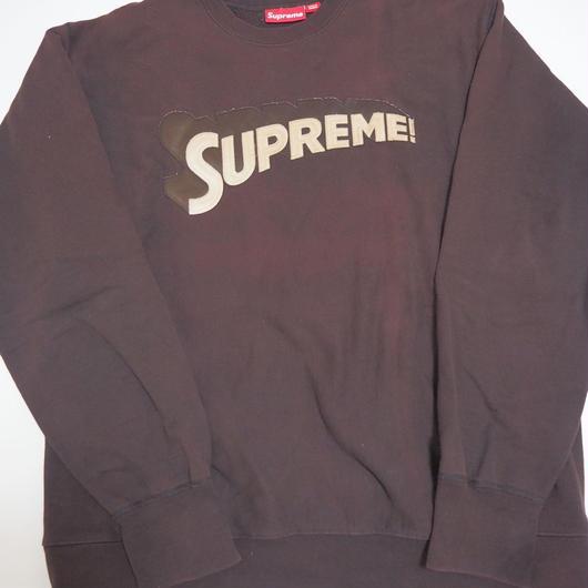 2000's SUPREME スーパーマンロゴスウェット