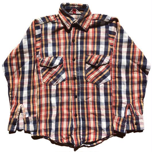 【14 1/2】1970's〜FROST PROOF ヘビーフランネルシャツ