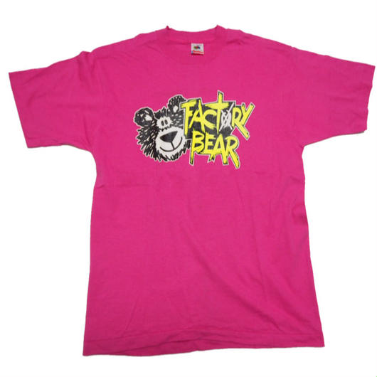 1980's USA製 FACTORY BEAR  モトクロス T-shirts 実寸(L)