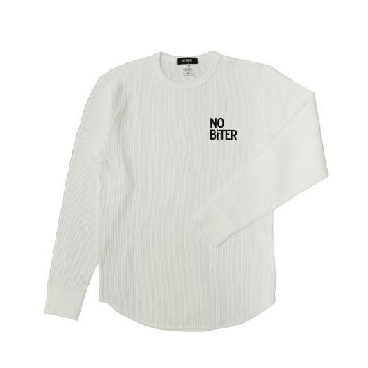[NOBiTER/ノーバイター]男女兼用ロゴプリントワッフルTシャツnbt182015