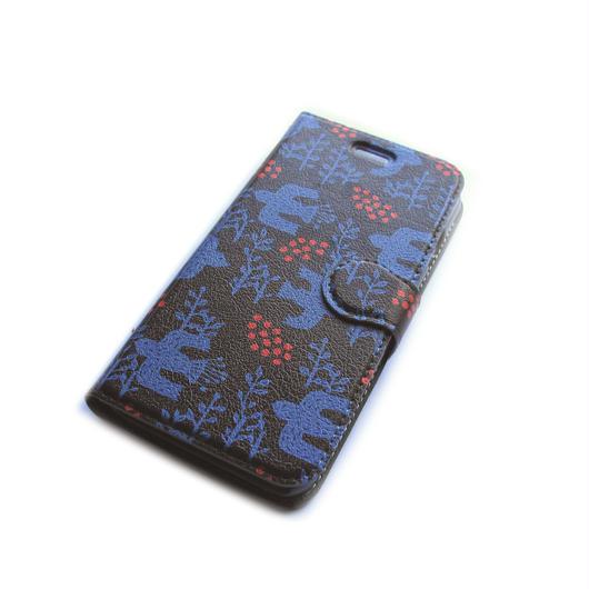 NOBORIYA iPhone7用 手帳型ケース 木の実とコトリ