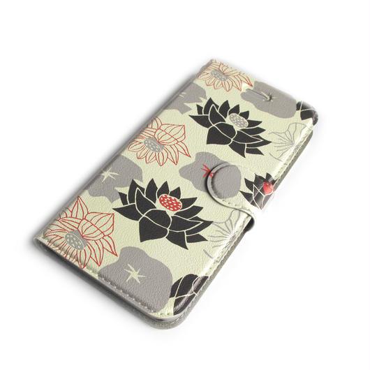 NOBORIYA iPhone7用 手帳型ケース HASU(ホワイト)