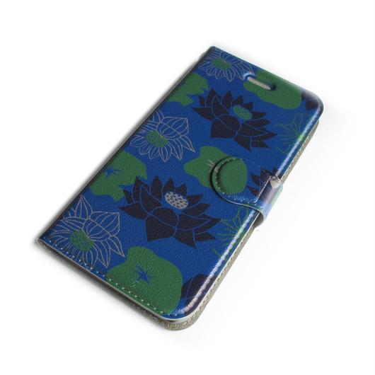 NOBORIYA iPhone7用 手帳型ケース HASU(ブルー)