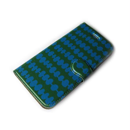 NOBORIYA iPhone6/6s用 手帳型ケース だんご(グリーン・ブルー)