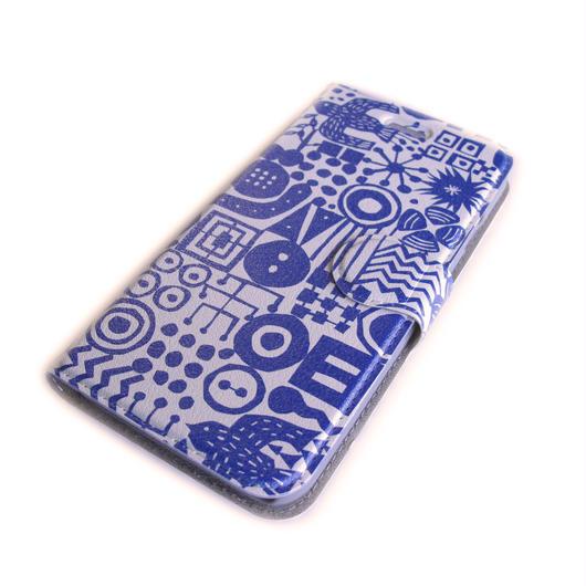 NOBORIYA iPhone7用 手帳型ケース 旅の思い出(blue)