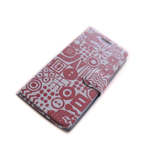 NOBORIYA iPhone7用 手帳型ケース 旅の思い出(red)
