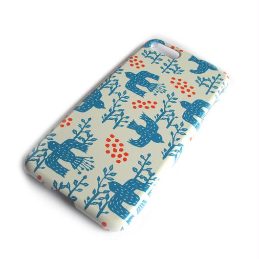 NOBORIYA iPhone7用ケース 木の実とコトリ(ホワイト)