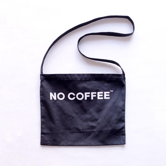 NO COFFEE SHOULDER BAG (BLACK)
