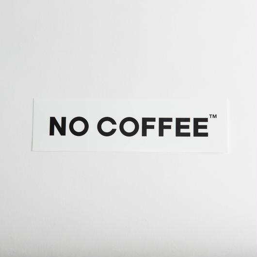 NO COFFEE ステッカー大(ホワイト)