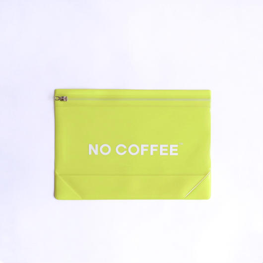 NO COFFEE Gusset Pouch L  YELLOW