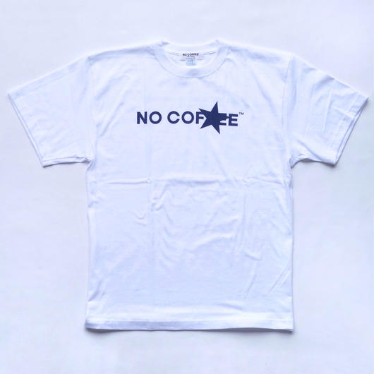 NO COFFEE × FIRSTORDER Tシャツ Ver.3 ホワイト(ステッカー付き)