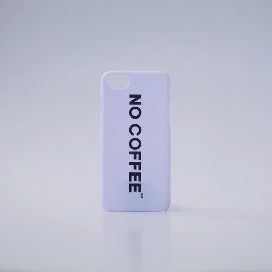 NO COFFEE iPhone7用ケース(ホワイト)