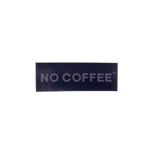 NO COFFEE BLACK ステッカー小