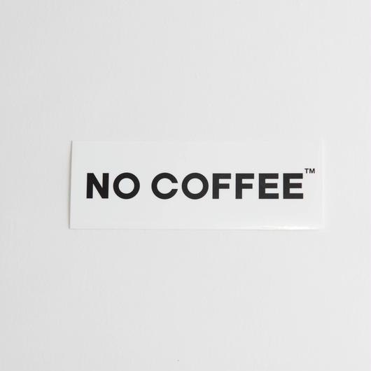 NO COFFEE ステッカー小(ホワイト)
