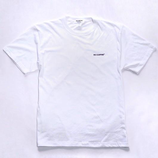 NO COFFEE ロゴ刺繍 Tシャツ(ホワイト)