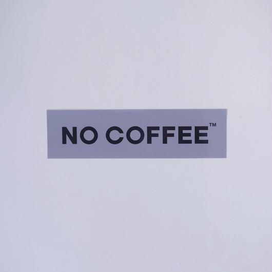 NO COFFEE ステッカー大(グレー)
