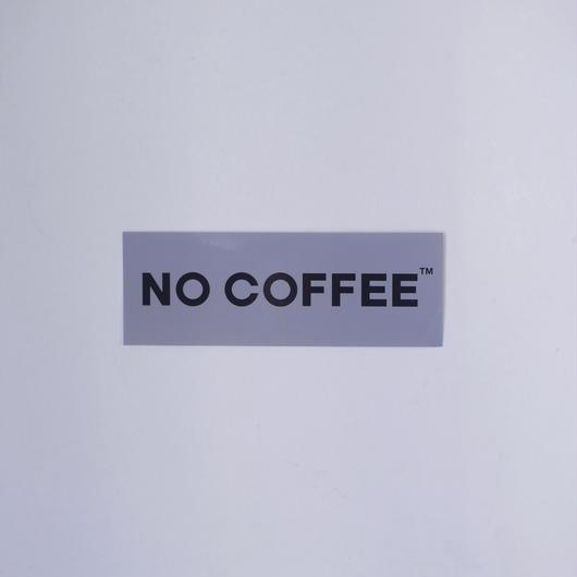 NO COFFEE ステッカー小(グレー)