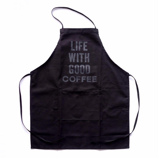 "NO COFFEE × DRESSSEN ""LIFE WITH GOOD COFFEE""エプロン  BLACK"