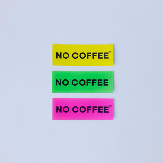 NO COFFEE NEON ステッカー小 3枚セット