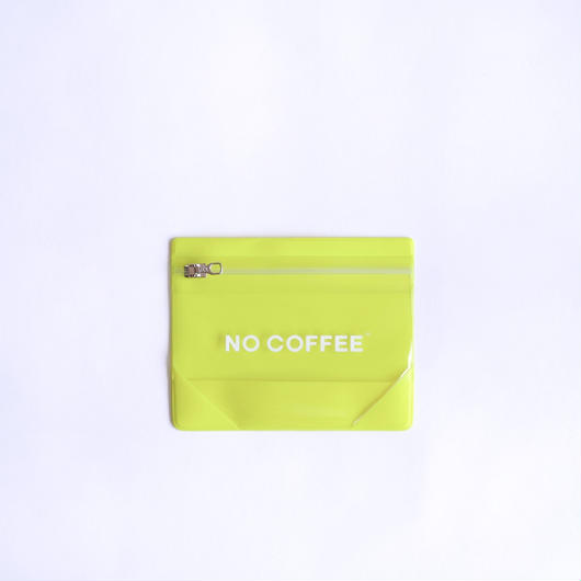 NO COFFEE Gusset Pouch S  YELLOW