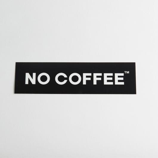NO COFFEE ステッカー大(ブラック)