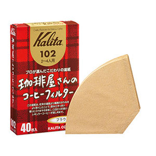 Kalita 珈琲屋さんのコーヒーフィルター102ブラウン