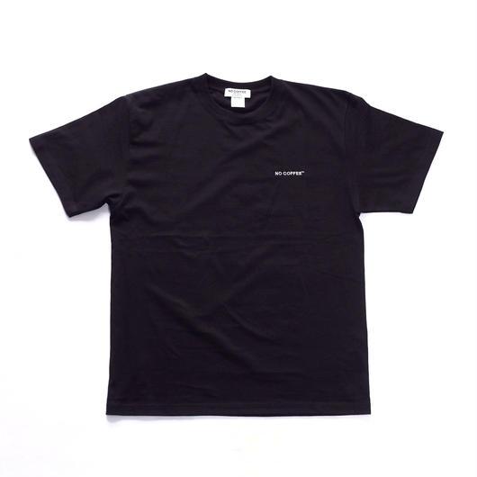 NO COFFEE ロゴ刺繍 Tシャツ(ブラック)