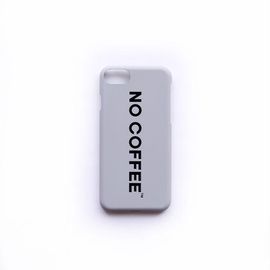 NO COFFEE iPhone7・8兼用ケース(グレー)