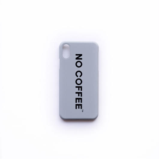 NO COFFEE iPhoneX用ケース(グレー)