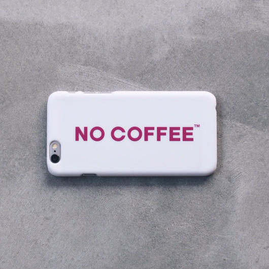 NO COFFEE iPhone6Plus用ケース ホワイト×ピンク