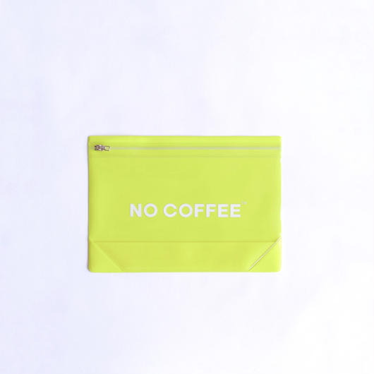 NO COFFEE Gusset Pouch M  YELLOW